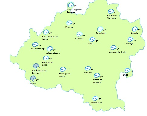 Foto 1 - Cubierto y lluvias débiles por la mañana este sábado