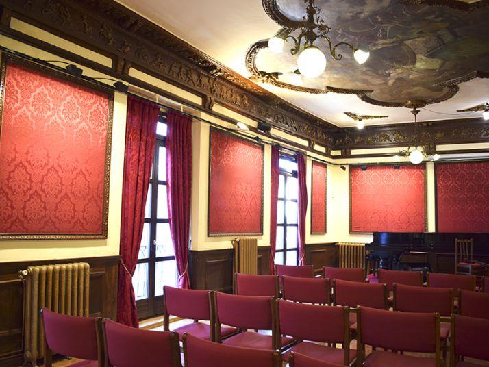 Una de las salas del Centro de Amistad Numancia.