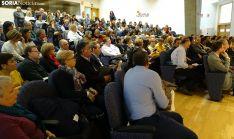Una imagen del acto en el salón de actos de la 'Colmena'. /SN