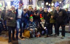 Un grupo de sorianos festeja la llegada de 2020. /SN