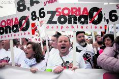 Una de las imágenes de la marcha contra la despoblación de Madrid. María Ferrer.