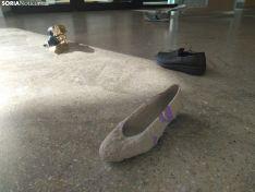 Instalación artística 'Un viaje en sus zapatos'.