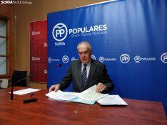 Muñoz Remacha hoy en rueda de prensa. SN