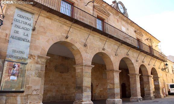 El Palacio de la Audiencia, en la plaza Mayor soriana, fue sede judicial. /SN