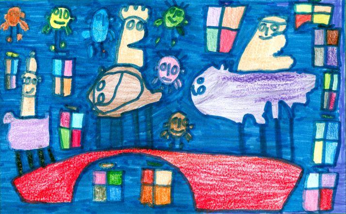 Foto 2 - Estos son los dibujos y los autores ganadores de las pequepostales de Caja Rural