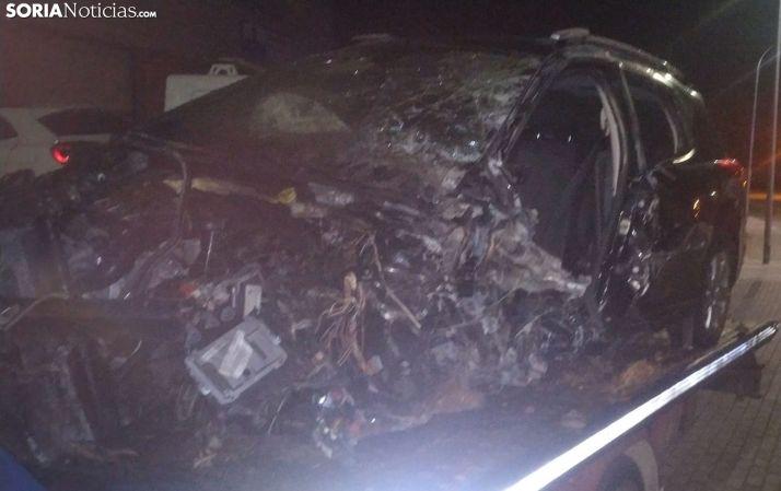 3 vehículos implicados en un accidente en la N-122