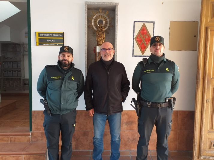 El subdelegado de Gobierno felicita el año nuevo en los cuarteles de la Guardia Civil. Subdelegación