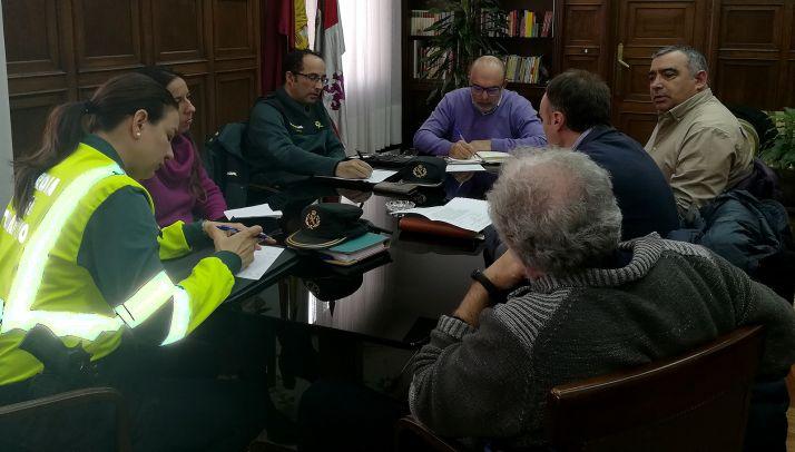 Imagen de la reunión este miércoles en la sede gubernamental en Soria. /SdG