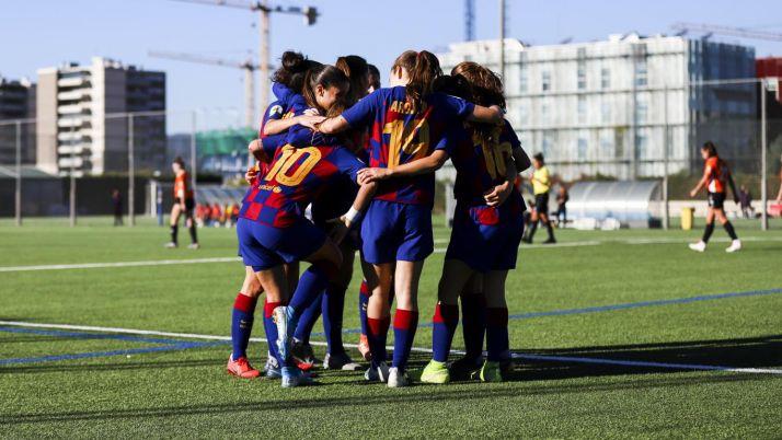 El Barça B derrota por la mínima al CD Parquesol en la Ciutat Esportiva Joan Gamper. FC Barcelona