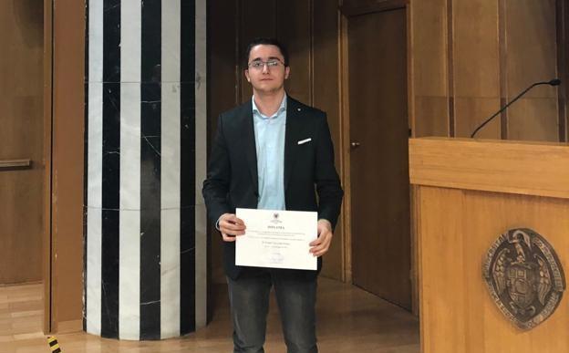 Foto 1 - El soriano Andrés Velarde, entre los mejores ingresos de la Universidad Complutense