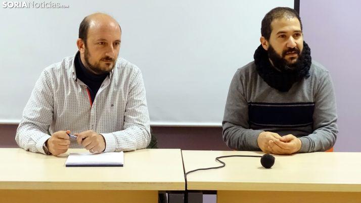 López (izda.) y Gonzalo, este jueves en rueda informativa. /SN