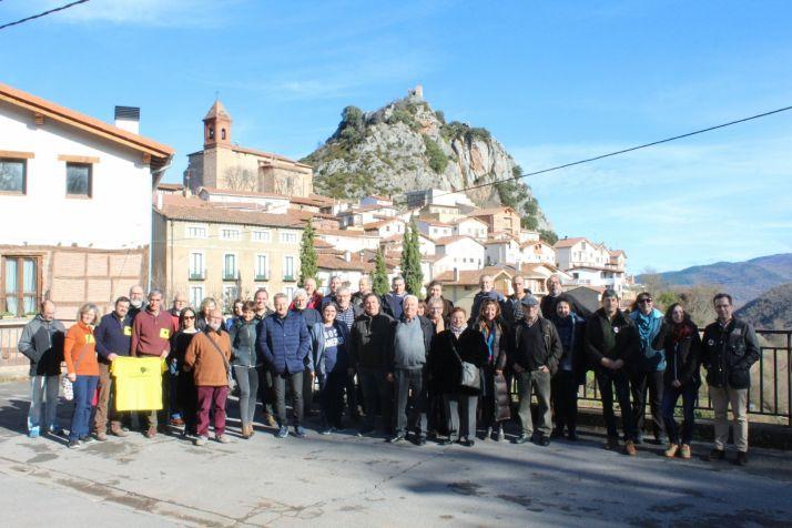 Representantes de la España Vaciada en Nieva de Cameros. /Jarcia Riojanista.