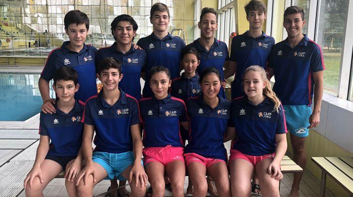 Deportistas del Natación Soriano.