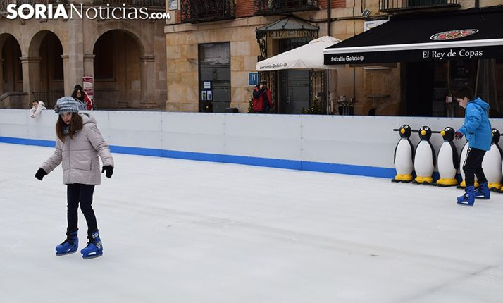 La pista de pantinaje ubicada en la plaza Mayor. /SN