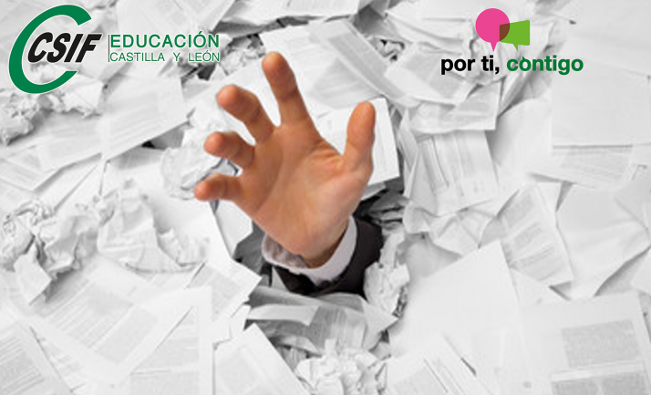 Foto 1 - CSIF inicia una campaña contra las abusivas tareas burocráticas del profesorado en los centros docentes