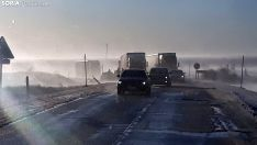 Una imagen de la situación en las calzadas del este provincial durante esta mañana de martes. /SN