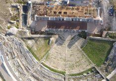 Foto 4 - La restauración del teatro romano de Clunia, prevista para marzo de 2020