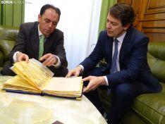 Una imagen de la visita institucional a la Diputación. /SN