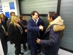 Acto con militantes del PP esta tarde en la sede del partido. /SN