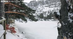 Imagen de la Laguna Negra nevada