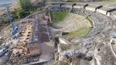 La restauración del teatro romano de Clunia, prevista para marzo de 2020