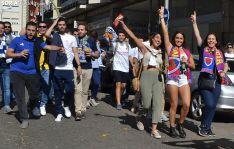 Seguidores de las dos aficiones de camino a Los Pajaritos en el partido de octubre. /SN