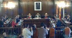 Sesión plenaria del Ayuntamiento de Soria.