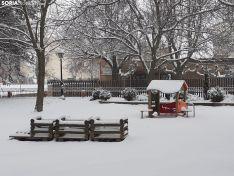 Una imagen de la nevada en Ágreda. /SN