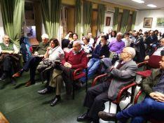 Una imagen de la convocatoria de la plataforma en la Casa de Soria en Madrid. /SoriaYa