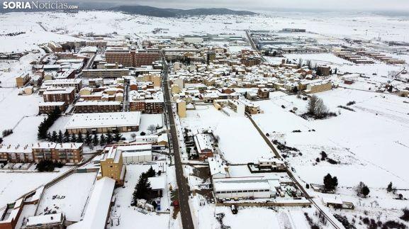 Vista aérea de la localidad este jueves. /SN