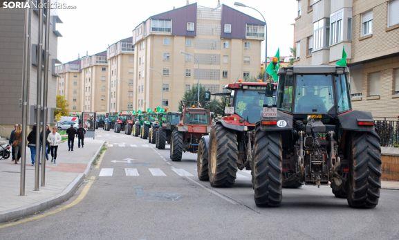 Una imagen de la última 'tractorada' convocada por ASAJA en 2015. /SN