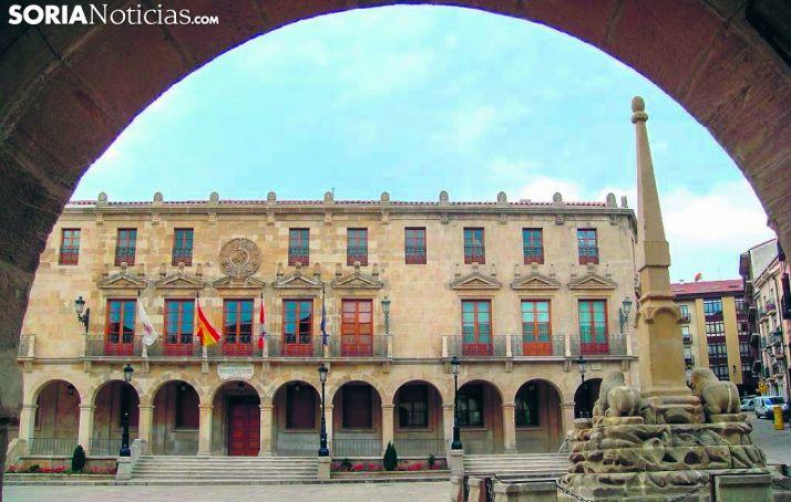 Fachada del Ayuntamiento de Soria.