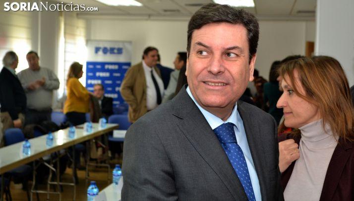 Fernández Carriedo en una visita a Soria.