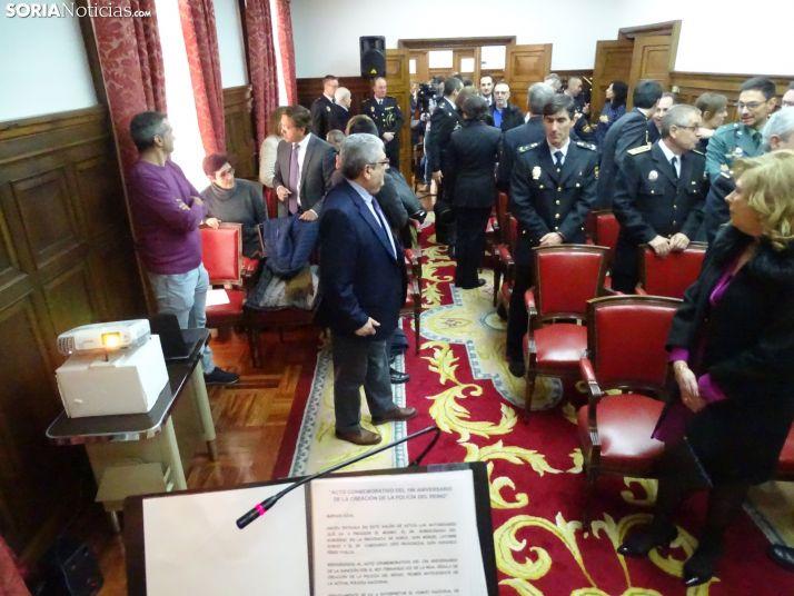 Una imagen del acto oficial del CNP este viernes. /SN