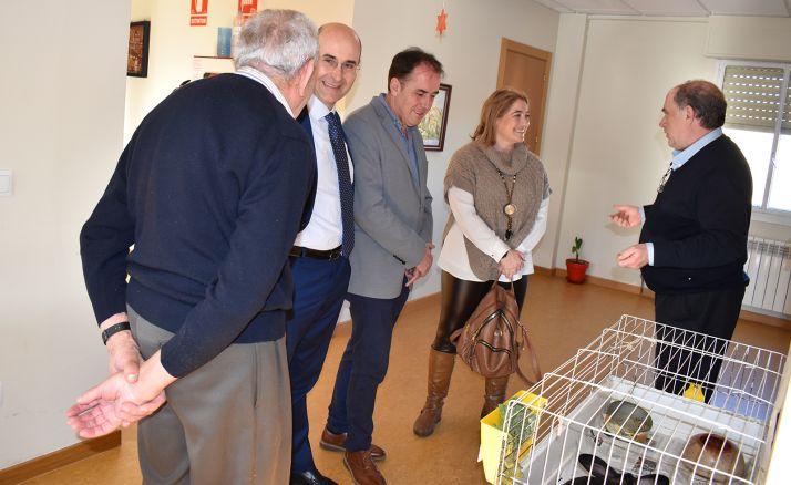 Una imagen de la visita institucional este miércoles.