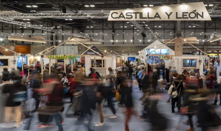 Una imagen del stand de Castilla y León durante FITUR 2020.