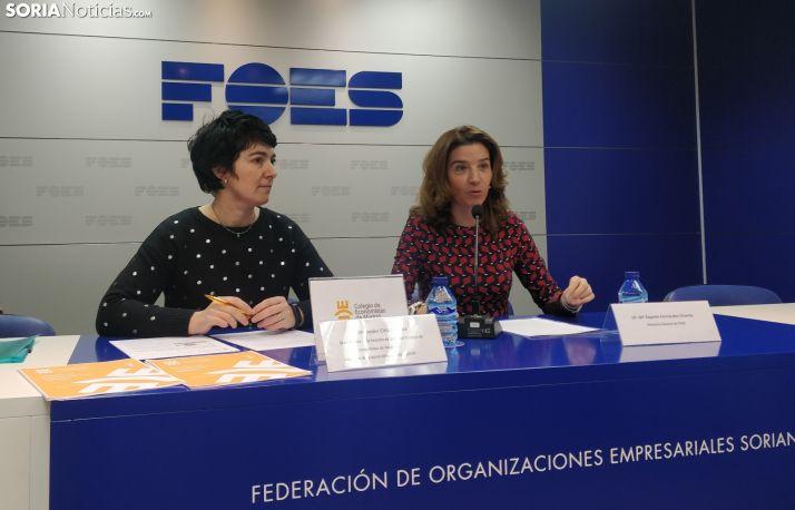 Fernández y Ciria en rueda de prensa. SN
