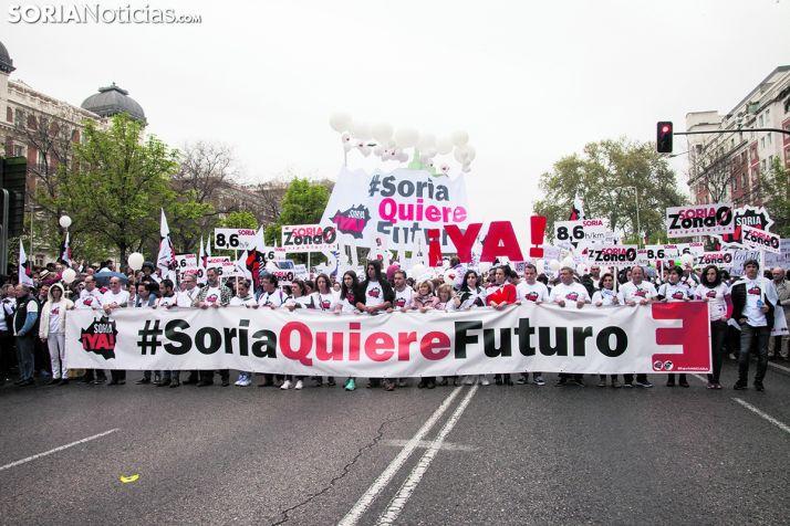 Imagen de la concentración de la España Vaciada en Madrid.
