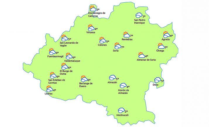 Pronóstico para las 15:00 horas. /eltiempo.es