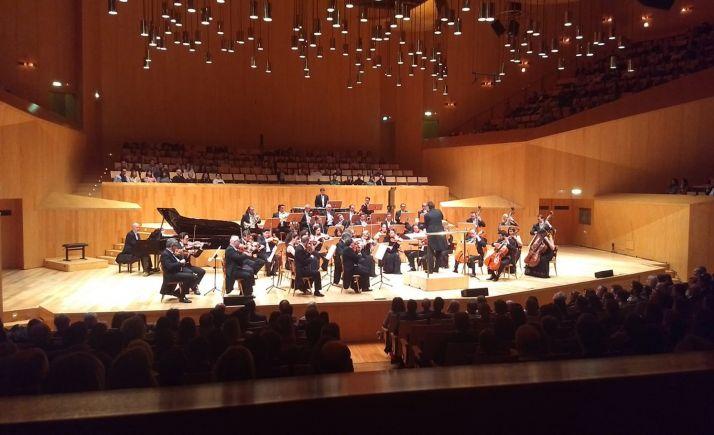 Una imagen del Auditorio de Zaragoza este martes.