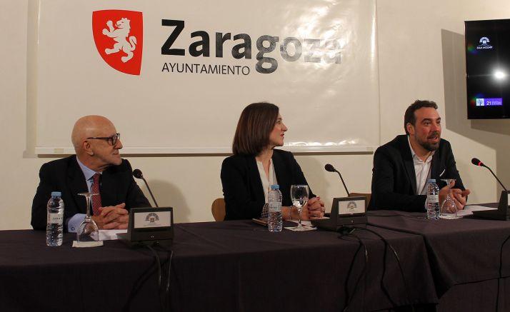 Alberto Barranco (dcha.), Sara Fernández y Juan Calvo.