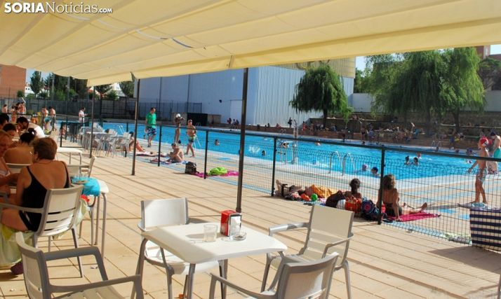 Una imagen de la zona de baño del polideportivo. /SN