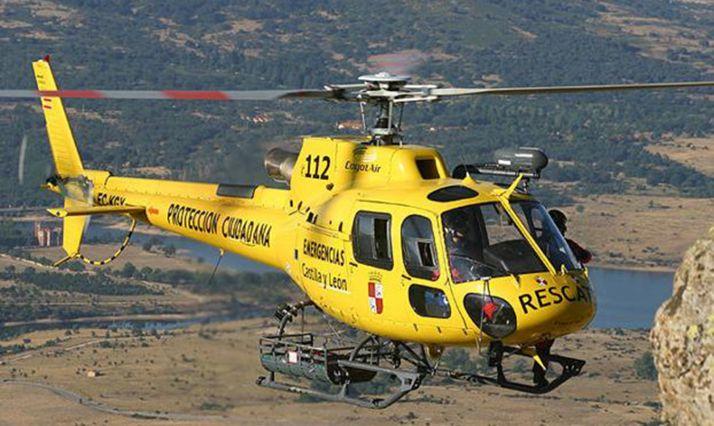 El helicóptero de Protección Civil en una intervención.