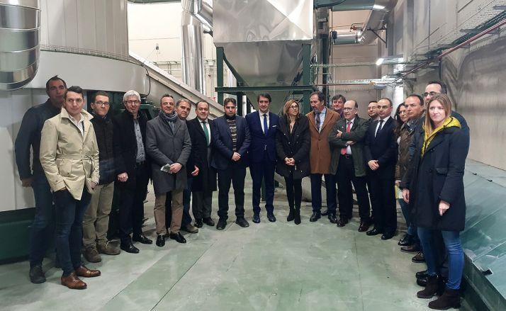 Una imagen de la visita institucional a las instalaciones arandinas. /Jta.