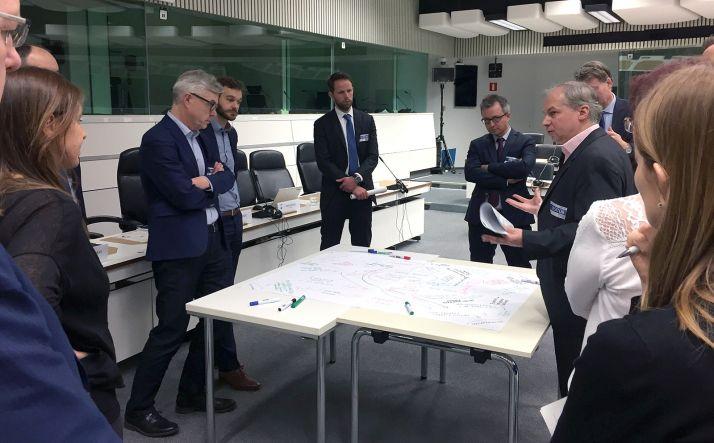 Una imagen de la reunión en Bruselas. /SSPA