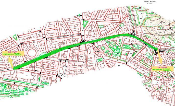 El Gobierno cede al Ayuntamiento la titularidad de dos tramos de la travesía de la N-234