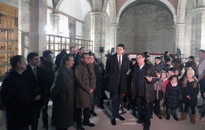 Una imagen de la visita institucional este martes a Villalar. /Jta.