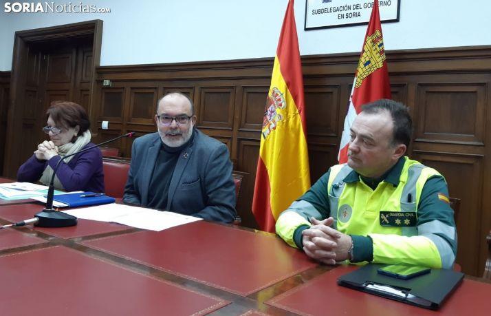 Francisca Delgado, Miguel Latorre y Jesús Mazo durante la rueda de prensa.