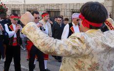 Una imagen de la procesión este lunes en la localidad pinariega. /SN