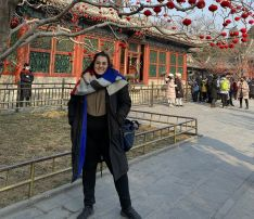 Cristina García, soriana en Tianjin (China)